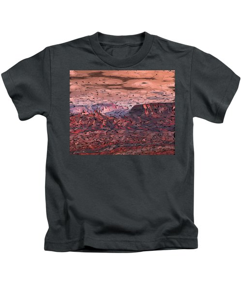 Banded Canyon Abstract Kids T-Shirt