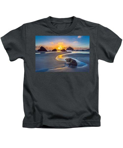 Bandon Face Rock Kids T-Shirt
