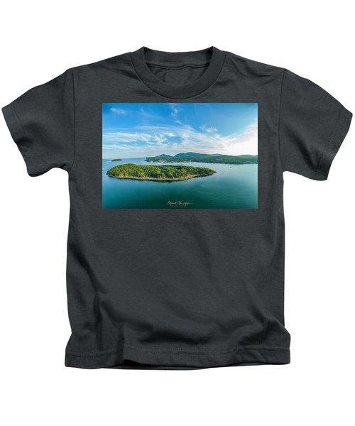 Bar Island, Bar Harbor  Kids T-Shirt