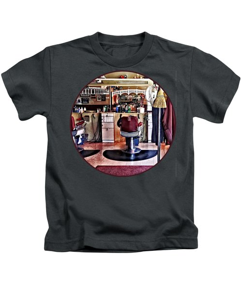 Barbershop With Coat Rack Kids T-Shirt