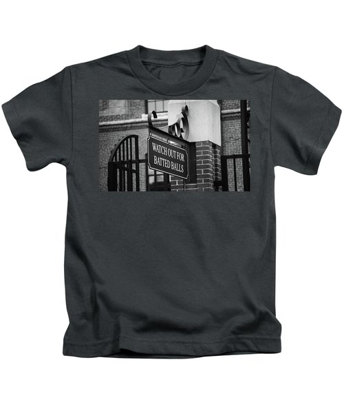 Baseball Warning Bw Kids T-Shirt