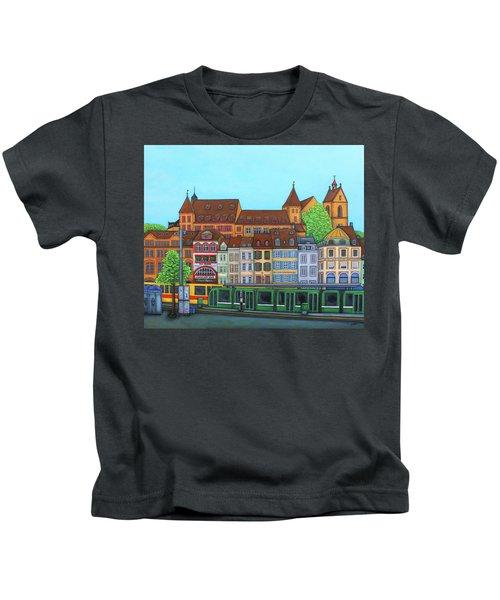 Basel, Barfusserplatz Rendez-vous Kids T-Shirt