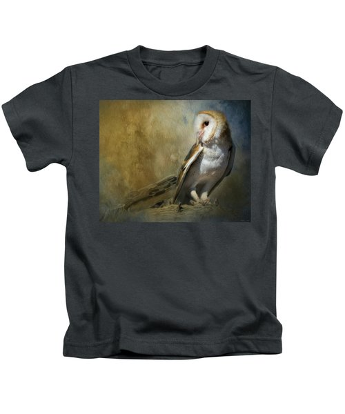 Bashful Barn Owl Kids T-Shirt