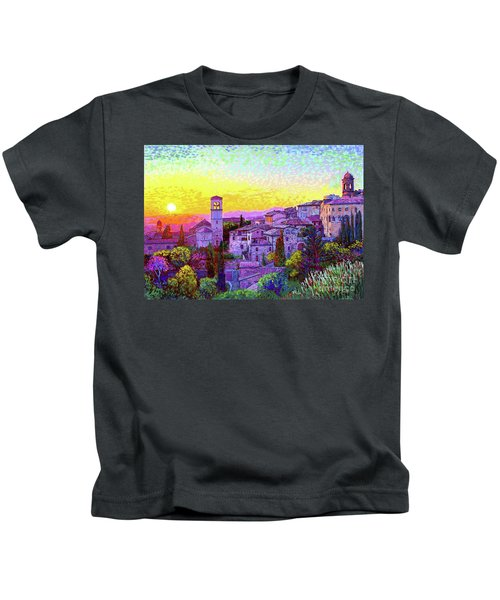 Basilica Of St. Francis Of Assisi Kids T-Shirt