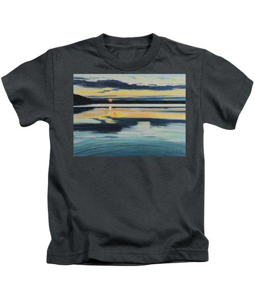 Bass Lake Sunset Kids T-Shirt