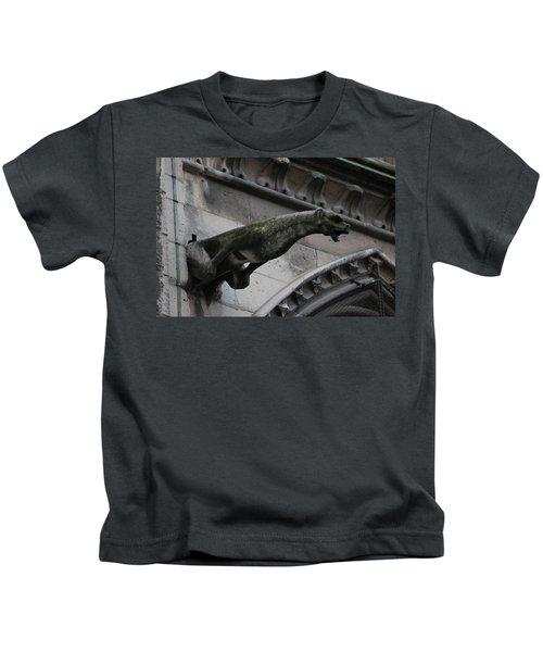 Bat Eared Dog Gargoyle Of Notre Dame Kids T-Shirt