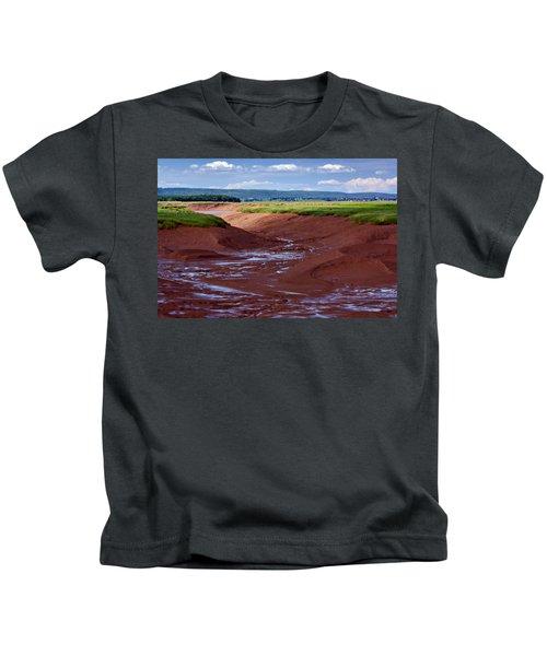 Bay Of Fundy - Nova Scotia - Low Tide Kids T-Shirt