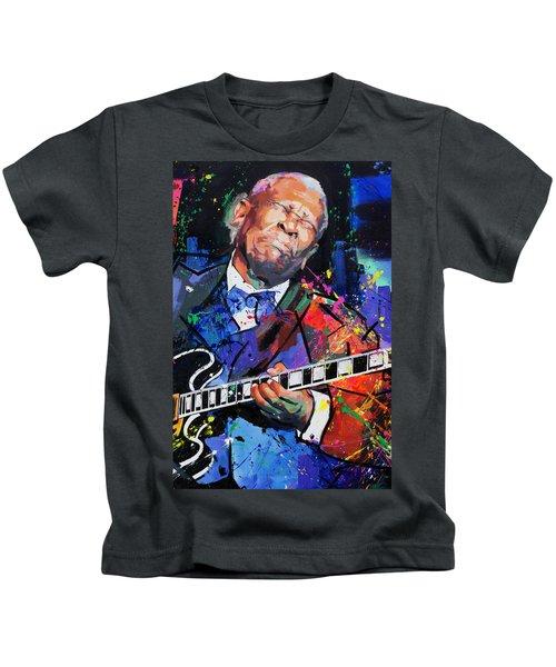 Bb King Portrait Kids T-Shirt