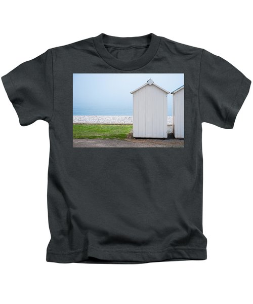 Beach Hut By The Sea Kids T-Shirt