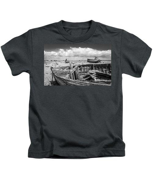 Beached Boats. Kids T-Shirt