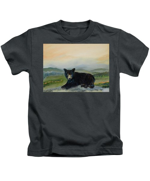 Bear Alone On Blue Ridge Mountain Kids T-Shirt