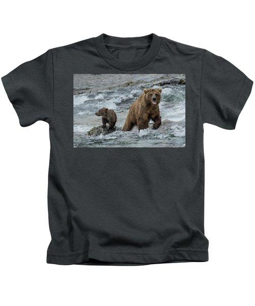 Bears Being Watchful  Kids T-Shirt