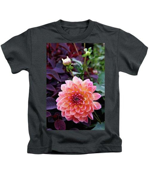 Beautiful Dahlia Kids T-Shirt