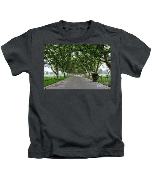 Entrance To River Edge Farm Kids T-Shirt