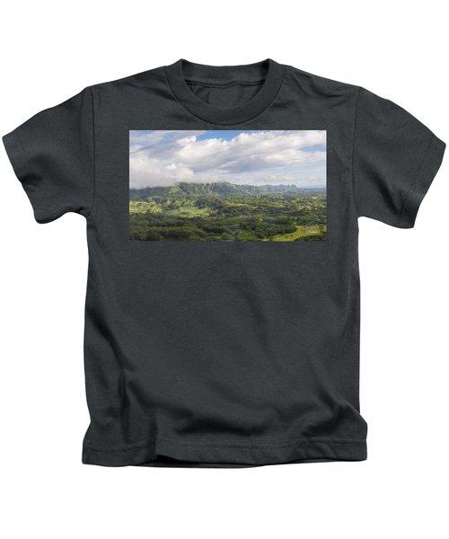 Beautiful Kauai Countryside And Mountains Kids T-Shirt