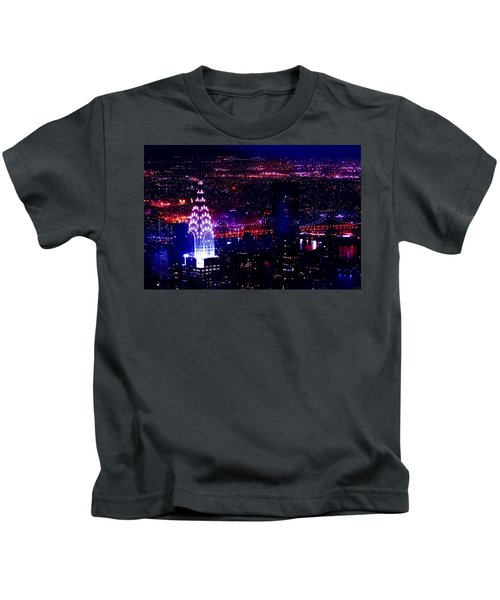 Beautiful Manhattan Skyline Kids T-Shirt by Az Jackson