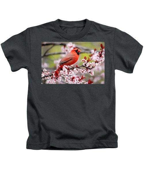 Beautiful Northern Cardinal Kids T-Shirt