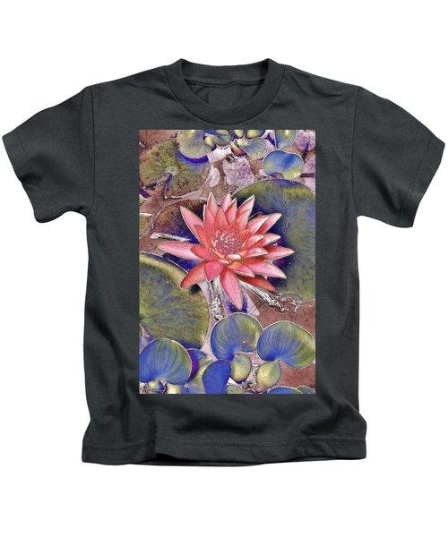 Beautiful Pink Lotus Abstract Kids T-Shirt