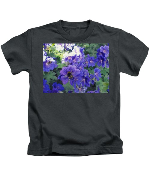 Bees And Flowers Kids T-Shirt