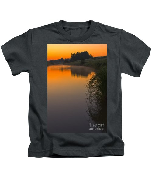 Before Sunrise On The River Kids T-Shirt