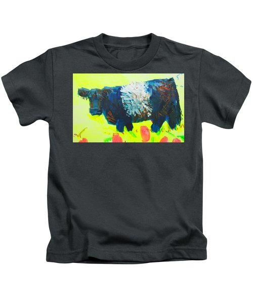 Belted Galloway Cow Looking At You Kids T-Shirt
