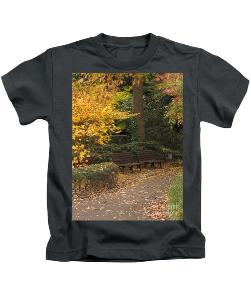 Benches In The Park Kids T-Shirt