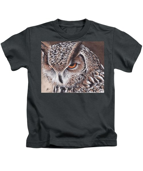 Bengal Eagle Owl Kids T-Shirt