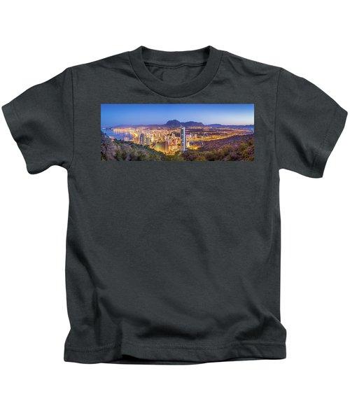 Benidorm At Sunrise, Spain. Kids T-Shirt