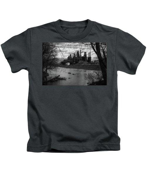 Bethlehem Steel Bw Kids T-Shirt