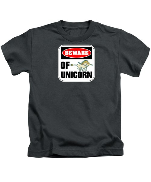 Beware Of Unicorn Kids T-Shirt
