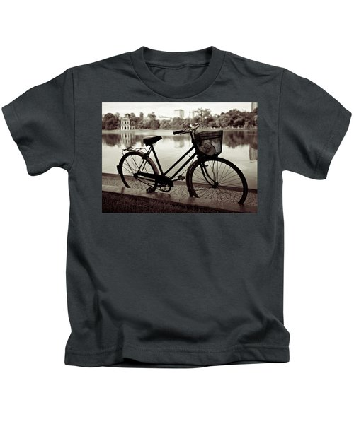 Bicycle By The Lake Kids T-Shirt