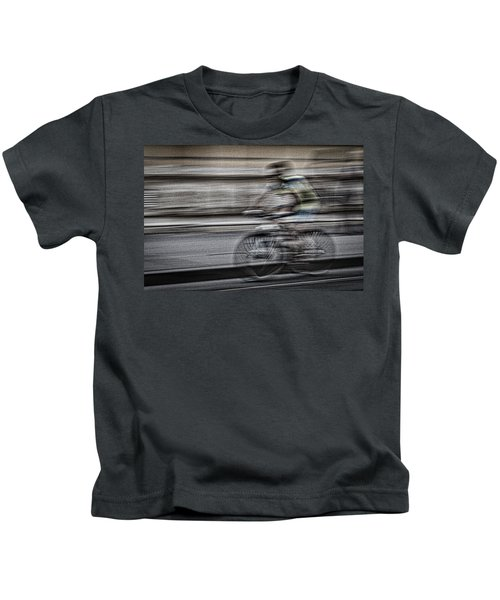 Bicycle Rider Abstract Kids T-Shirt