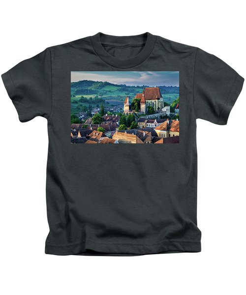 Biertan Church Dawn - Romania Kids T-Shirt