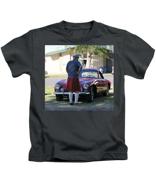 Big Man Little Car Kids T-Shirt
