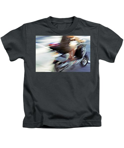 Bike In Motion Kids T-Shirt