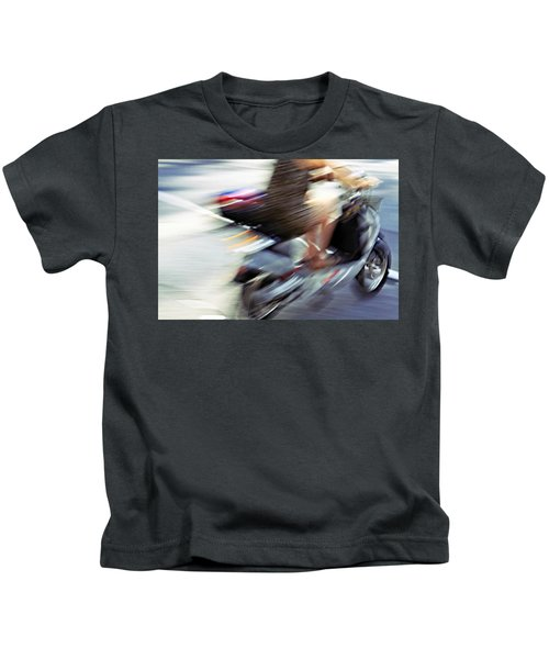 Bike In Motion Kids T-Shirt