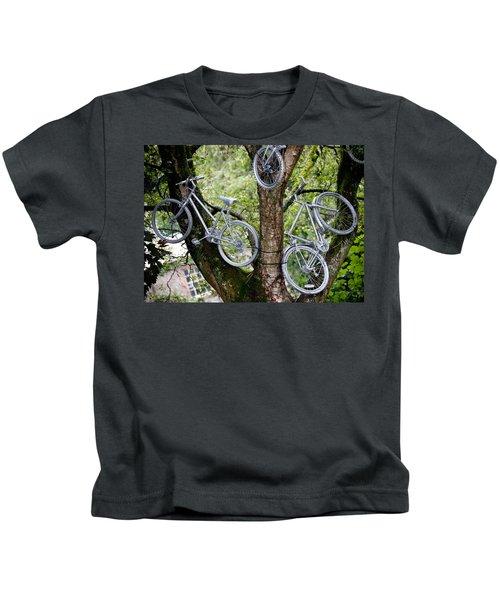 Bikes In A Tree Kids T-Shirt