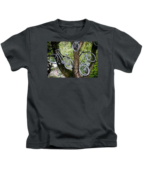 Bikes In A Tree Kids T-Shirt