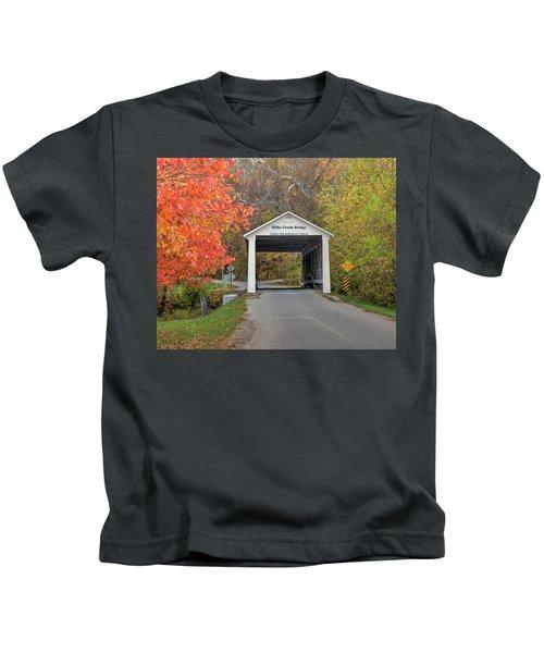 Billie Creek Covered Bridge Kids T-Shirt