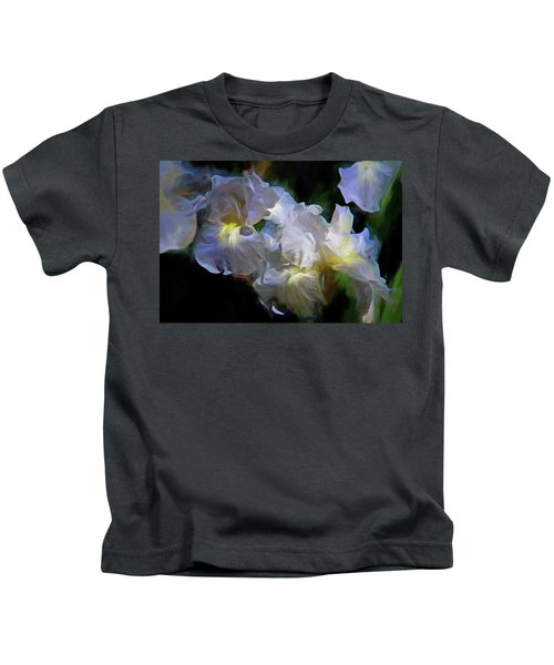 Billowing Irises Kids T-Shirt