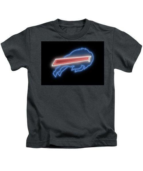Bills Neon Sign Kids T-Shirt