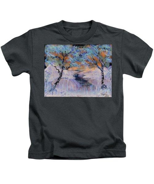 Birch Trees On The Ridge 2 Kids T-Shirt