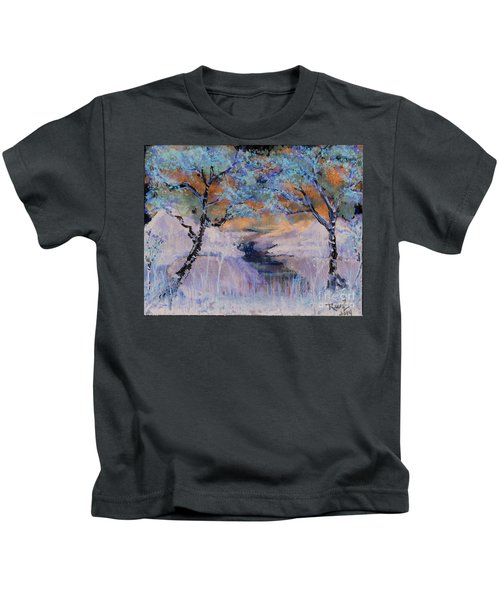 Birch Trees On The Ridge 2 Kids T-Shirt