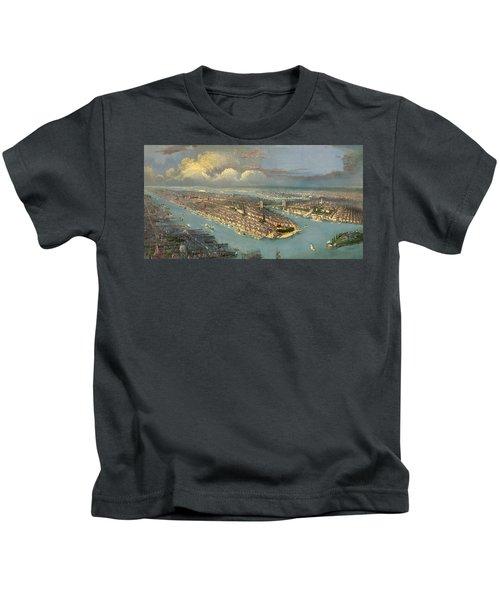 Bird's Eye View Of New York City  Kids T-Shirt
