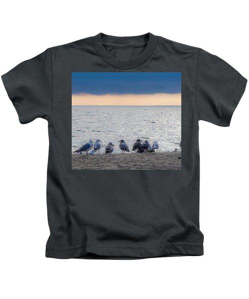 Birds On A Beach Kids T-Shirt