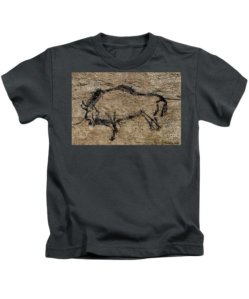 Bison From Niaux Cave Kids T-Shirt