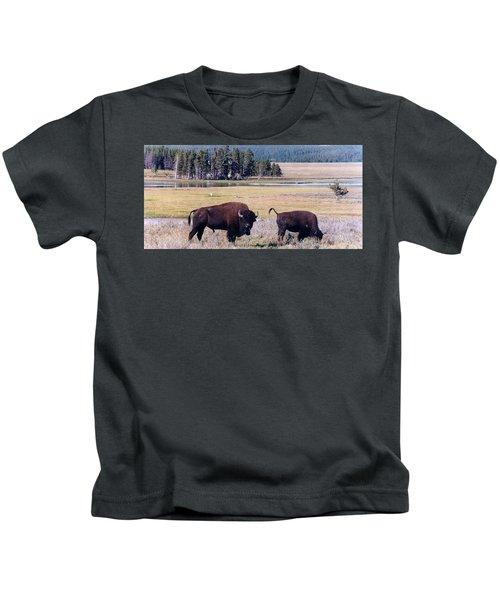 Bison In Yellowstone Kids T-Shirt