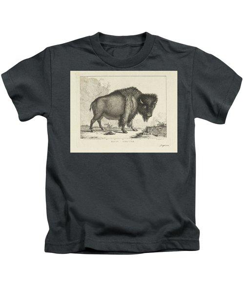Bison, Leendert Brasser, After Gerrit Van Den Heuvel, 1766 - 1793 Kids T-Shirt