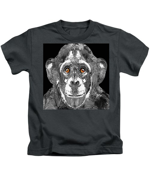 Black And White Art - Monkey Business 2 - By Sharon Cummings Kids T-Shirt by Sharon Cummings