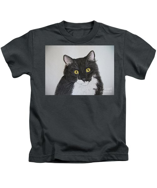 Black And White Cat Kids T-Shirt